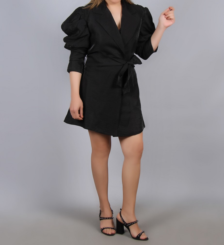 Balon Kol Ceket - Siyah