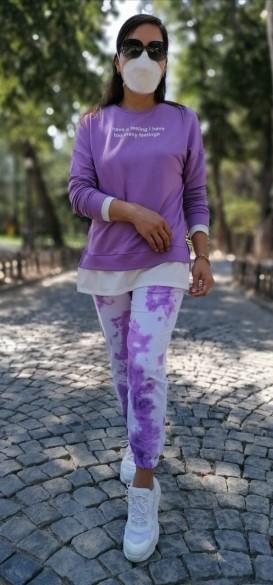 Batik Desen Pamuklu Eşofman Takımı