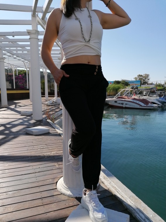 Crop Tshirt Kısa - Beyaz