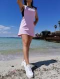 Boxer Tip Kısa Yazlık Elbise - Lila