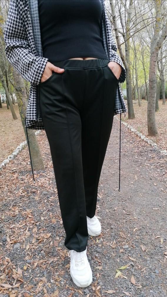 Çelik İnterlok Pantalon - Siyah