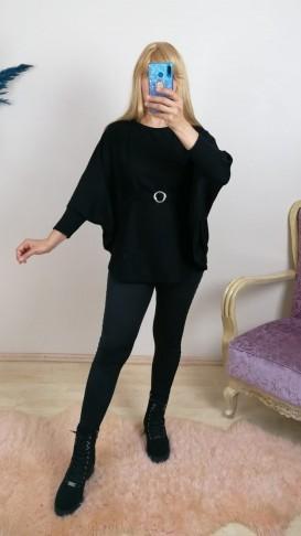 Triko Kemerli Panço Kazak - Siyah