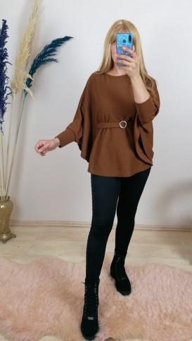 Triko Kemerli Panço Kazak - Kahverengi