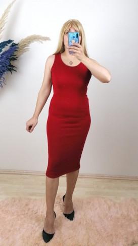 İkili Triko Takım Elbise - Kırmızı