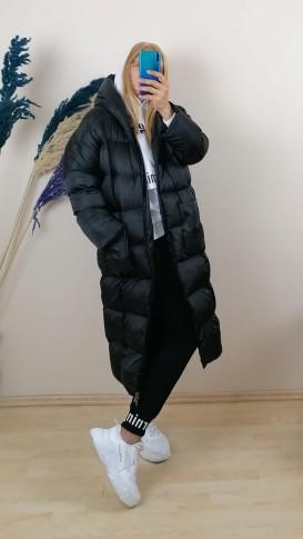 Şişme Tip Uzun Mont - Siyah