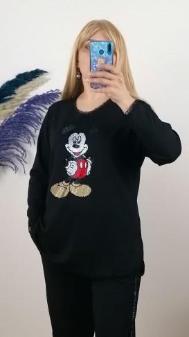 Mickey Mause Taş İşleme Takım - Siyah