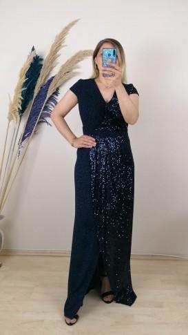 Zara Payetli Uzun Elbise - Laciver
